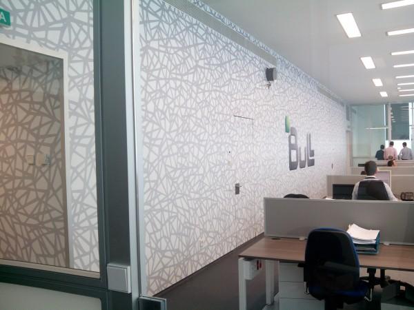 Diseño grafico aplicado Oficinas Bull 2